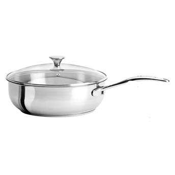 COOKWAY Master Sauteuse Inox Couvercle verre cerclé inox by CRISTEL