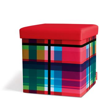 SITTING BOX Coffre Pouf de rangement REMEMBER ZIGZAG