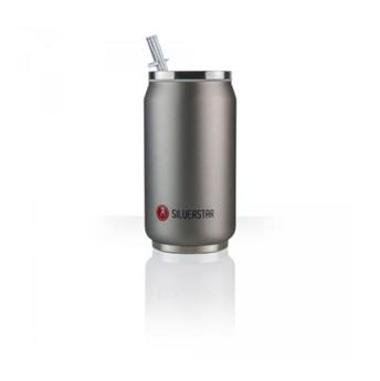 Can´it Mug isotherme canette 280 ml LES ARTISTES Inox mat