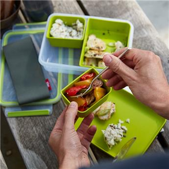 CLIP & Go Boite alimentaire Lunch box 3 compartiments Emsa 1.2 L