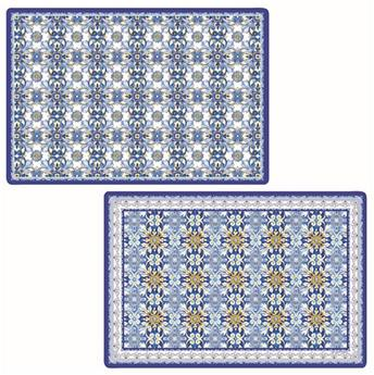 MAIOLICA Set de Table Souple 45 x 30 Bleu