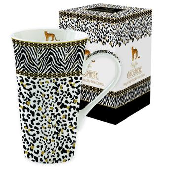 ATMOSPHERE Savana Coffret Mega mug 60 cl porcelaine Noir