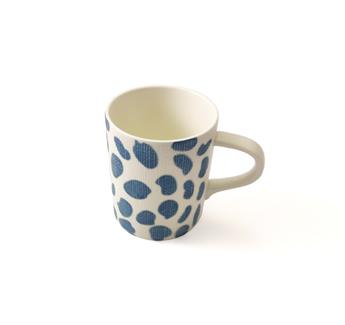 BLUE BREEZE Mug 37 cl Porcelaine Easy Life Pois Bleu